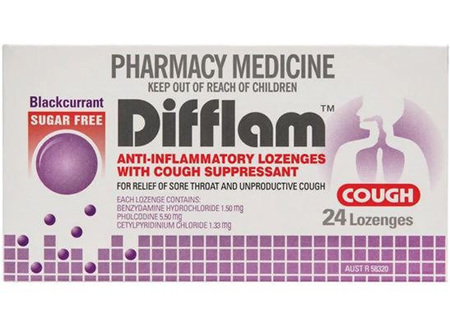 DIFFLAM COUGH BLACKCURRANT 24