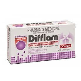 DIFFLAM Cough Loz Blackcurrant S/F 24: