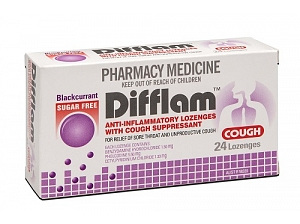 Difflam Cough Lozenges B/currant  24