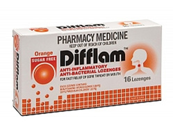 Difflam Lozenges Orange S/F 16