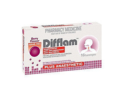 Difflam Plus Anaesthetic Berry Lozenges 16 Pack