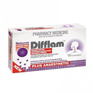 Difflam Plus Anaesthetic Lozenges - Blackcurrant 16s