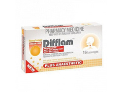 Difflam Plus Anaesthetic Lozenges  Honey  Lemon 16