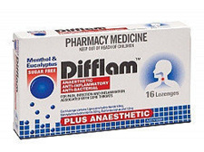 Difflam Plus Anaesthetic Menthol Lozenges 16 Pack
