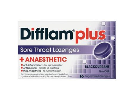 Difflam Plus LoZenge B/currant 16