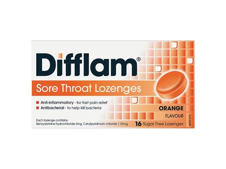 Difflam Sore Throat Orange Lozenges  16