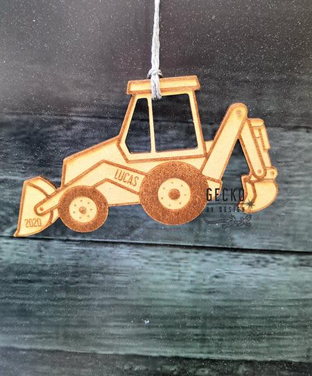 Digger Christmas Decoration