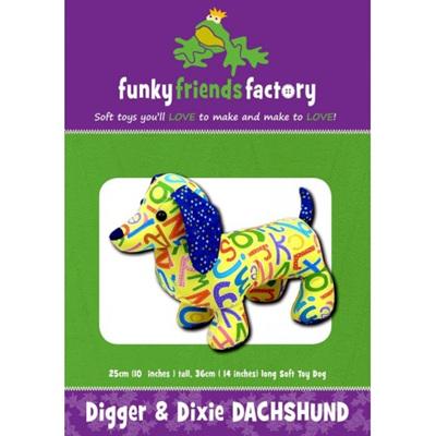 Digger & Dixie Dachshund Pattern
