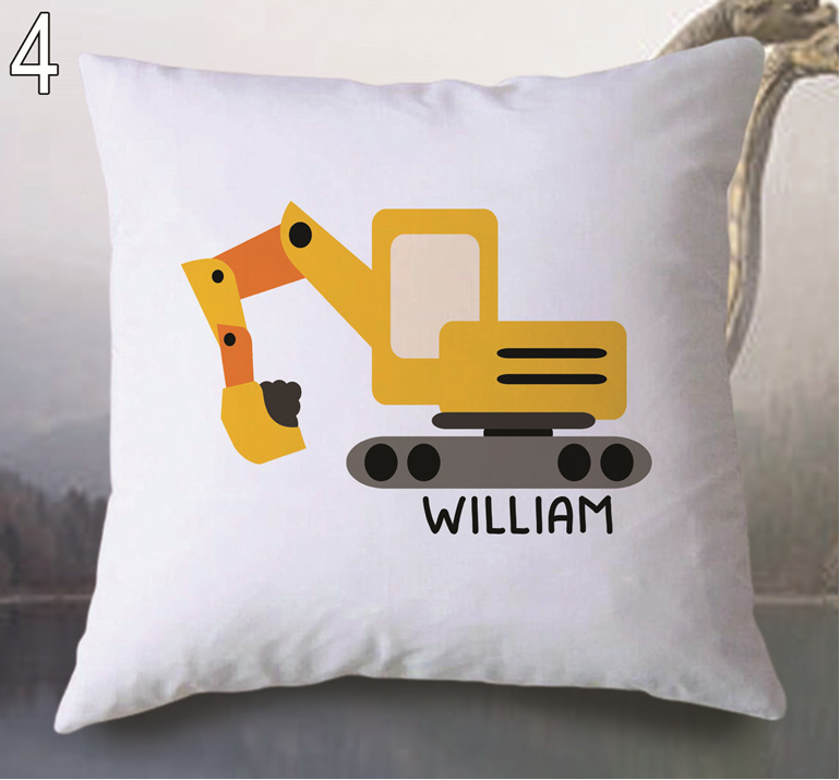Digger  Personalised Cushion Cover