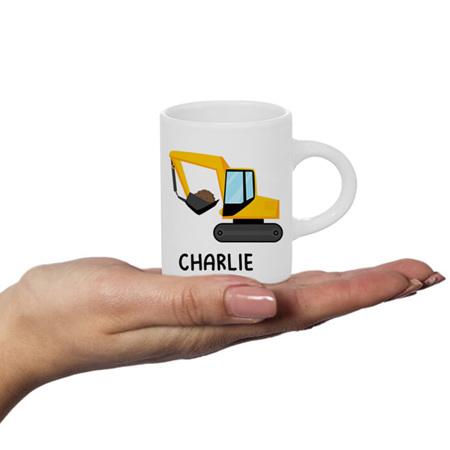 Digger Personalised Fluffy Mug