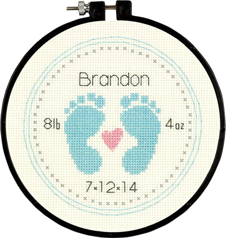 Dimensions Embroidery Kit - Baby Footprints