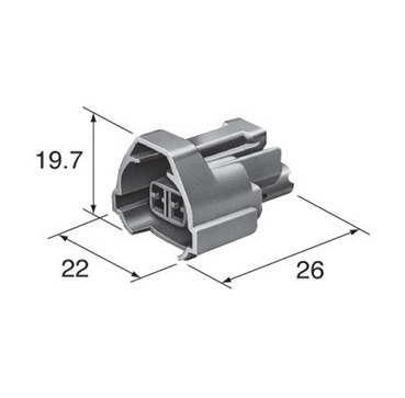 dimensions Subaru injector connector