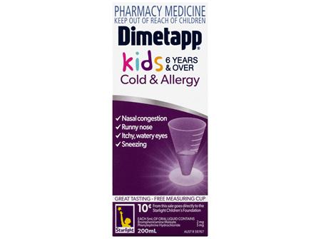 Dimetapp Cold & Allergy Kids 6 Years & Over 200mL