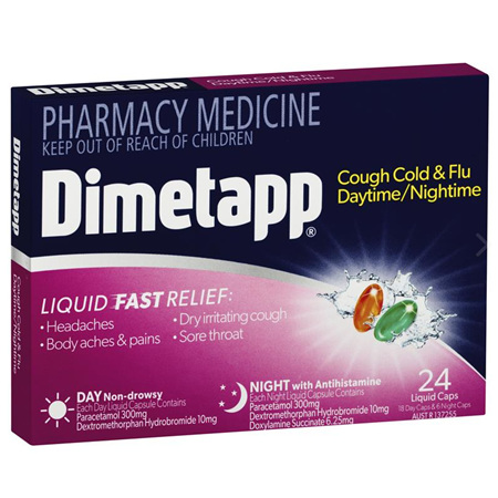 DIMETAPP DAY & NIGHT 24 LIQUID CAPSULES
