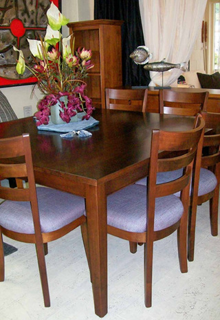 Hilton Dining Table Square Eight Seater
