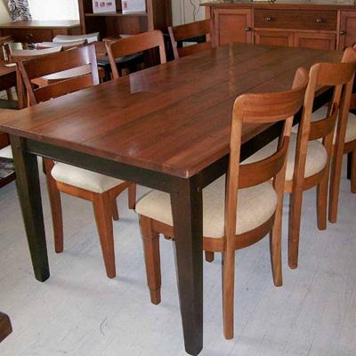 Bexton Dining Table - Piebald