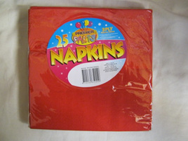 Dinner Paper Napkins x 25 RED