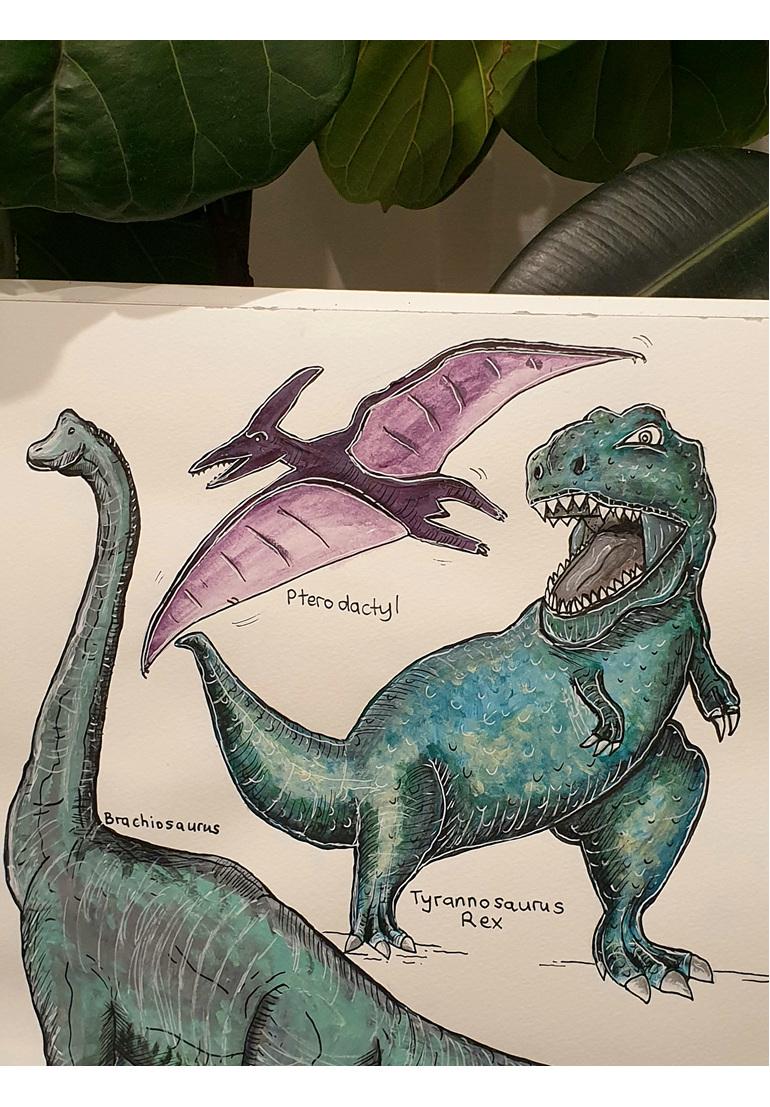 Dino Greeting Card