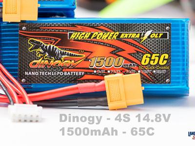 Dinogy 4S 14.8V 1500mAh 65C