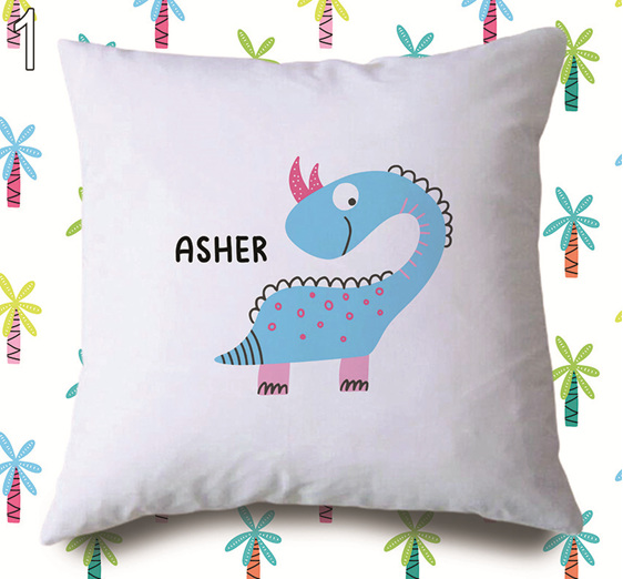 Dinosaur 1  Personalised Cushion Cover