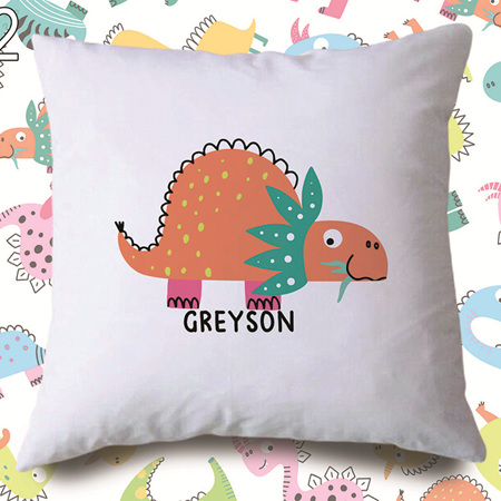 Dinosaur 2  Personalised Cushion Cover