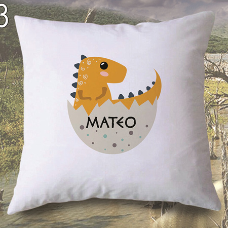 Dinosaur 3 Personalised Cushion Cover
