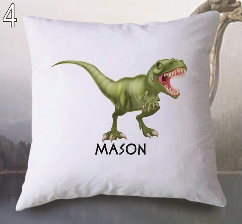 Dinosaur 4  Personalised Cushion Cover