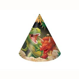 Dinosaur cone hats x 8