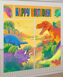 Dinosaur - Happy Birthday Wall Decorating Kit