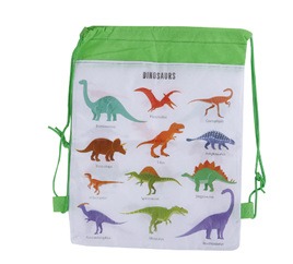 Dinosaur Non-Woven Drawstring Bag