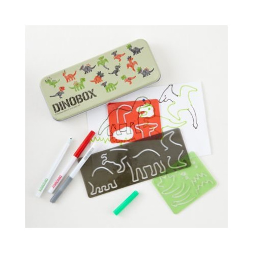 Dinosaur stencil art and craft box - spend hours inventing your own dinosaurs