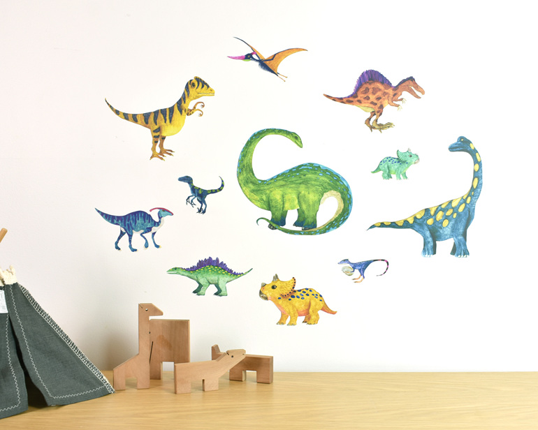 Dinosaur wall decal