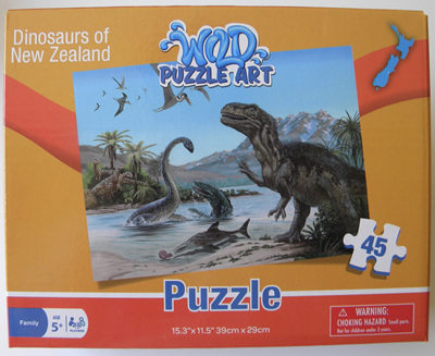 Dinosaurs of New Zealand 45 Piece Puzzle
