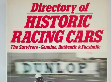 Directory of Historic Racing Cars by Denis Jenkinson