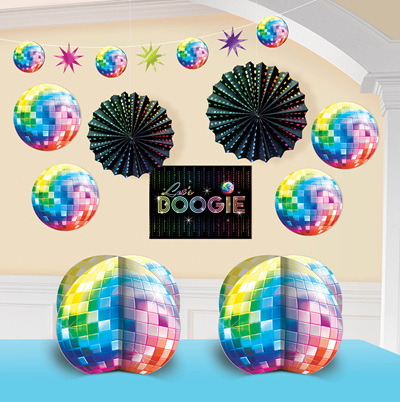 Disco Fever 10 piece Decorating Kit