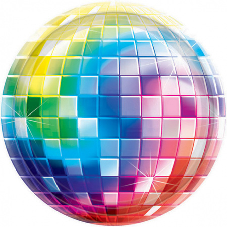 Disco plates pack of 8 x 26cm paper plates
