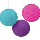 Disney Princess Boutique Round Lanterns x 3