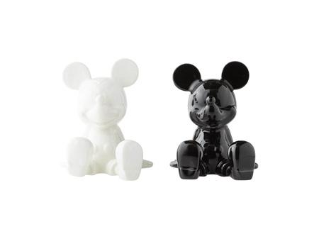 Disney Salt & Pepper Shaker Set Mickey Mouse Black & White