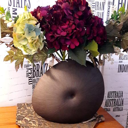 Diva Round Ceramic Vase - $132