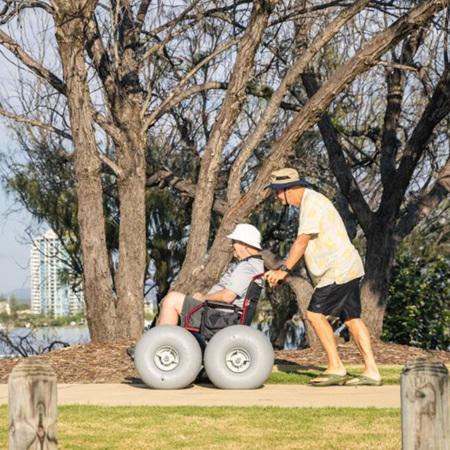 DIY  Beach Wheelchair Conversion Kit - 4 wheels