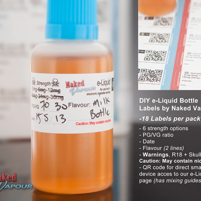 DIY e-Liquid Bottle Labels by Naked Vapour