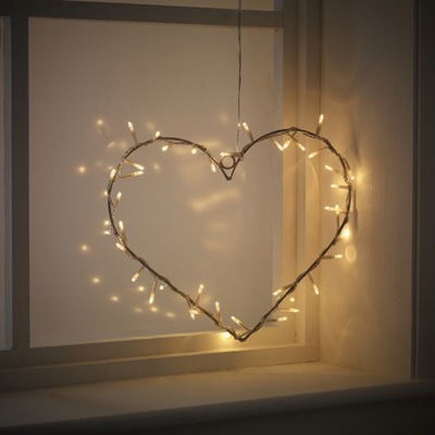 DIY Heart Shaped Fairy Lights