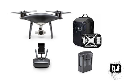 DJI Phantom 4 Pro Black Obsidian with 1 Extra Battery & Hardshell Backpack