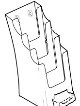 DLE 4 Pocket with B/C Holder 77711 brochure display stands
