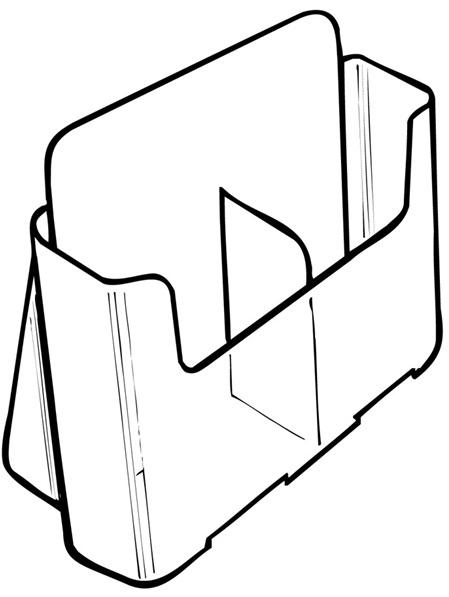 DLE Brochure Holder 2 Pocket 74501