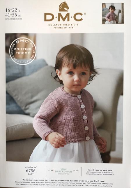 DMC Baby Cotton Girls Cardigan 6756