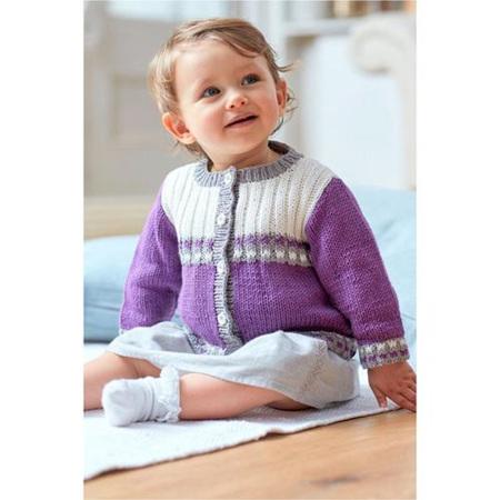 DMC Baby Cotton Striped Cardigan 6761