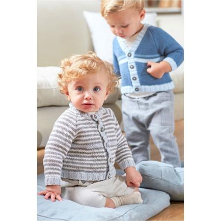 DMC Baby Cotton Striped Cardigan 6762
