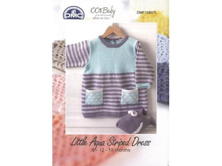 DMC BABY LITTLE AQUA STRIPED DRESS Pattern