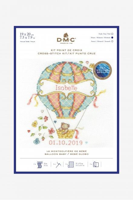 DMC Balloon Baby Cross Stitch Kit